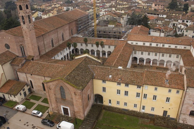 An aerial view of the San Francesco Complex and cloisters.