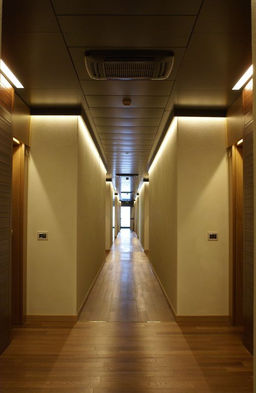 A hallway in the student residential.