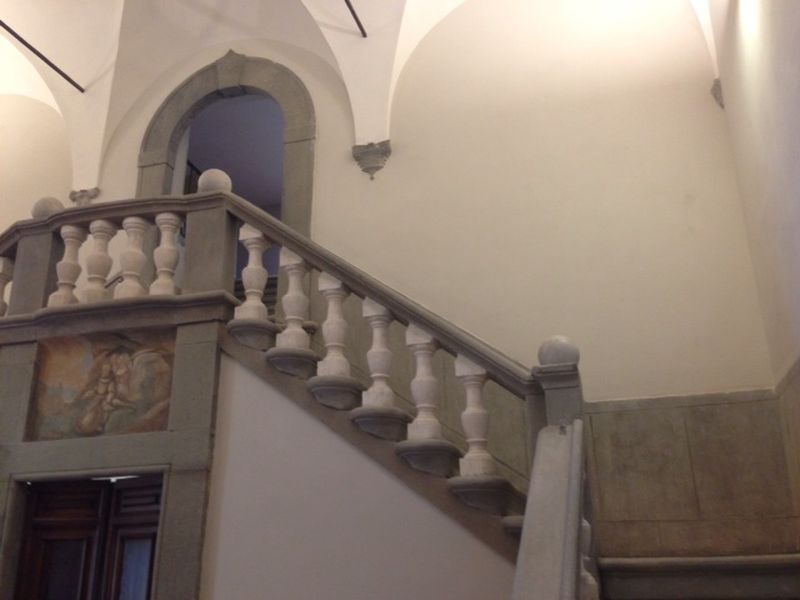 A stairway inside the San Francesco complex.