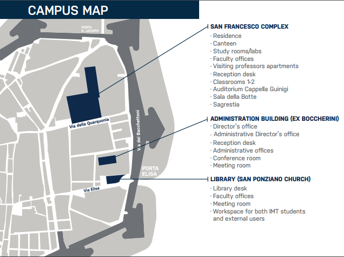 mappa campus IMT