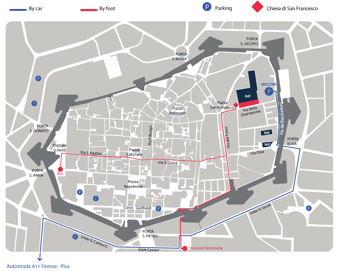 How To Reach Us IMT School For Advanced Studies Lucca - Pisa bus map